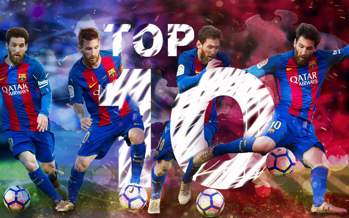 Leo Messi's top ten strikes of the season