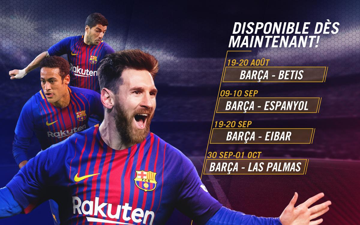 Les places pour les premiers matches de Liga, disponibles à partir du 27 juillet