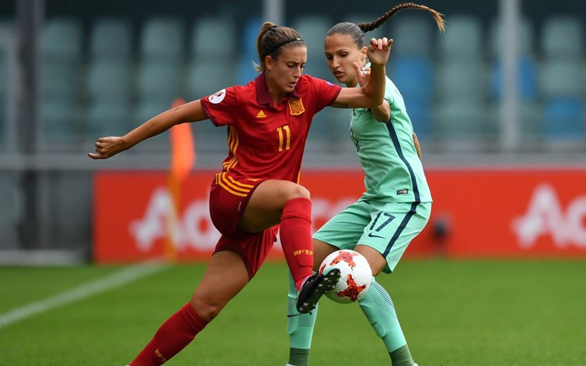 Siete azulgranas participan en el debut de la selección española en la Eurocopa