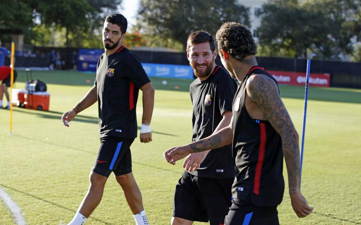 Barça shine bright at opening workout in Florida