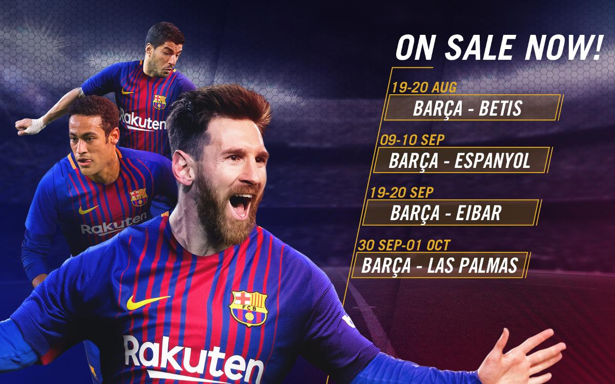 Tickets on sale for the first four Liga games at Camp Nou