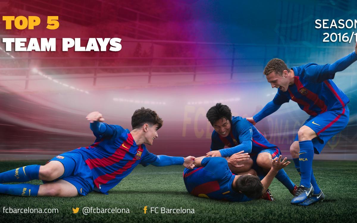 Vidéo - Le top 5 des buts collectifs de la Masia du FC Barcelone 2016/17