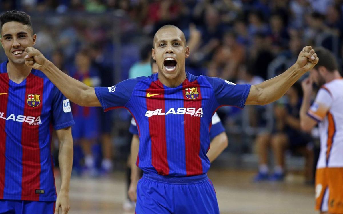 FC Barcelona Lassa – Cartagena FS: Victòria treballada a l'estrena al Palau (5-4)
