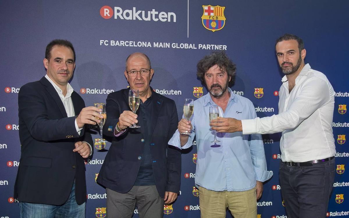 Rakuten celebra l'inici del patrocini amb el FC Barcelona al Camp Nou