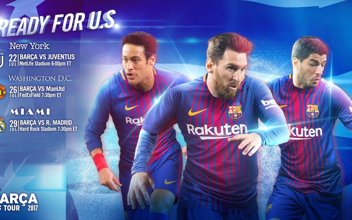 Le programme de la tournée du FC Barcelone aux États-Unis