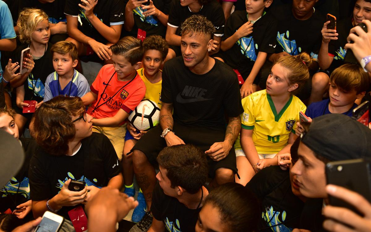 Neymar's Nike boots unveiled in Miami