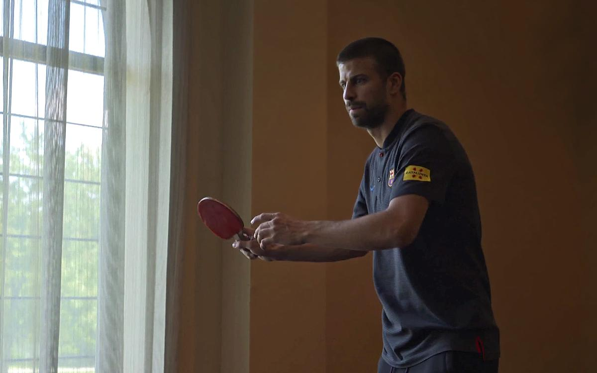 VIDEO: Fun and games in the Barça hotel
