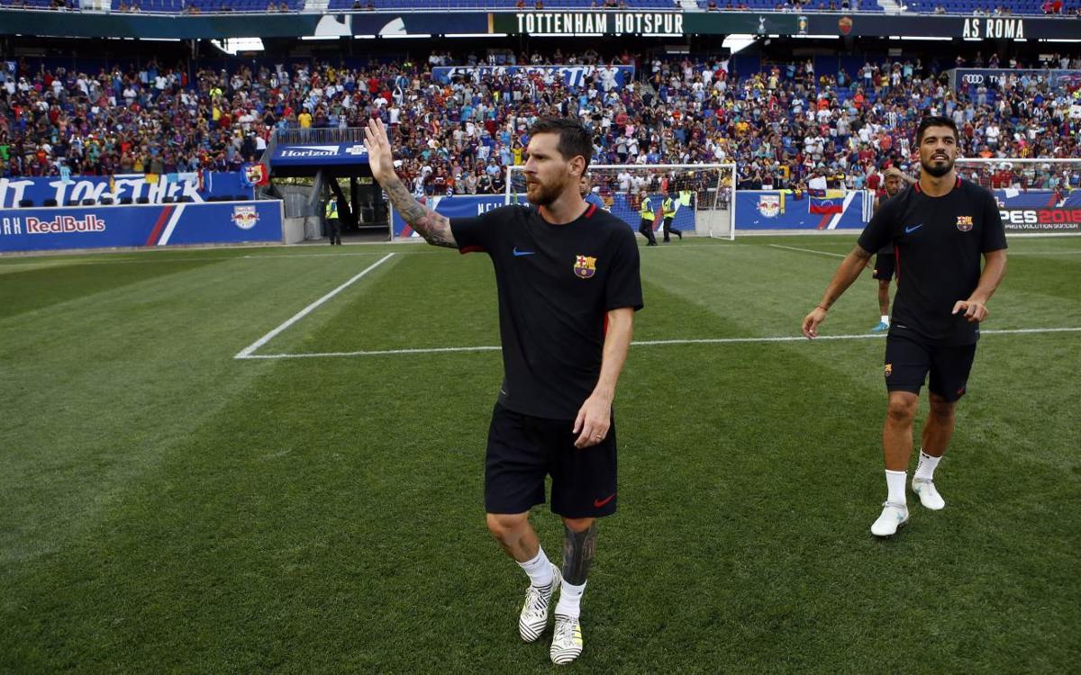Vidéo - Ambiance de fête à l'entraînement du FC Barcelone au Red Bull Arena