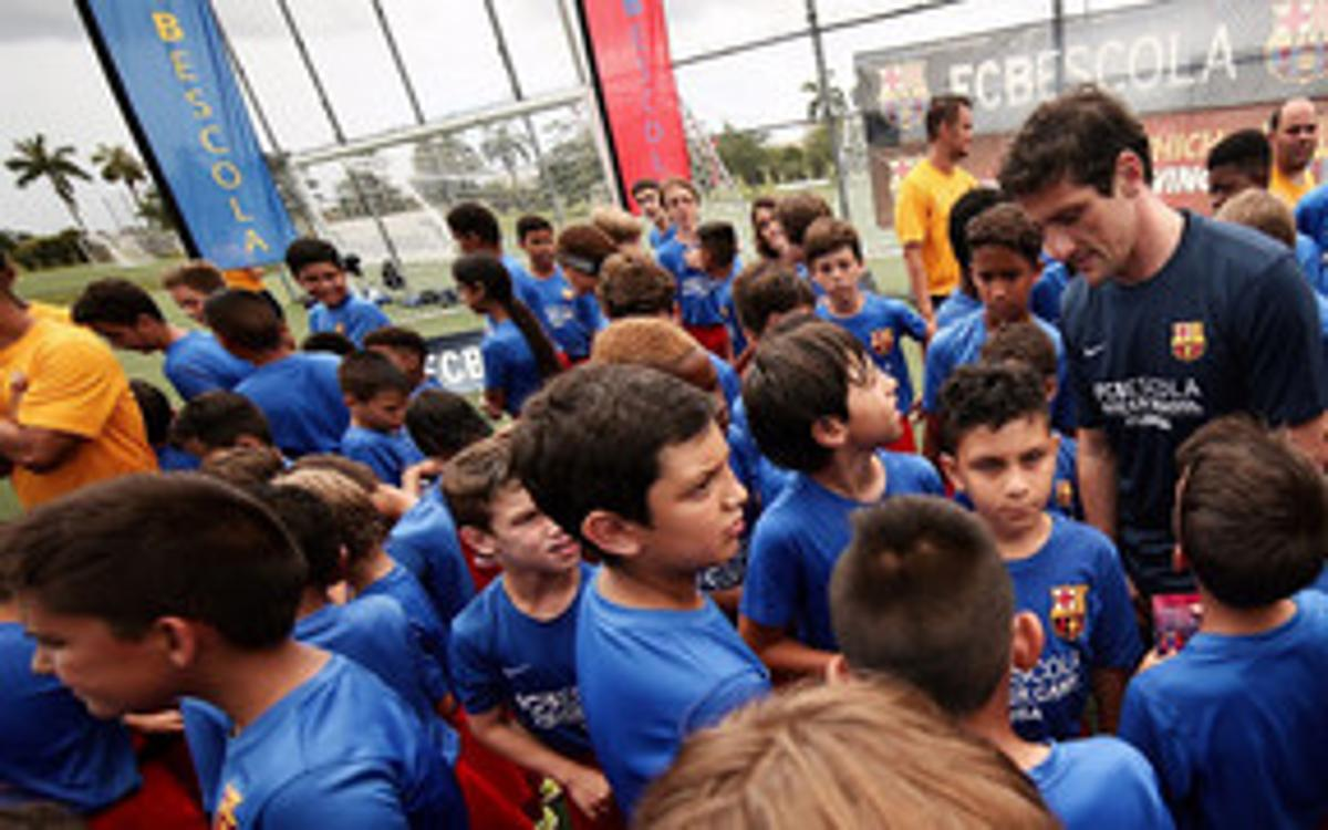 Baño de multitudes de Belletti en el FCBCamp Miami