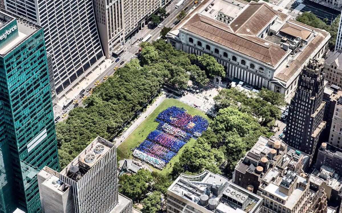 Gran movilización azulgrana en el corazón de Manhattan