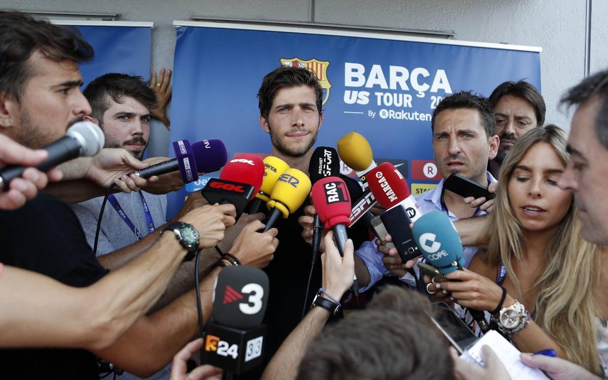 """Sergi Roberto: """"Estic obert a jugar on l'entrenador em demani"""""""