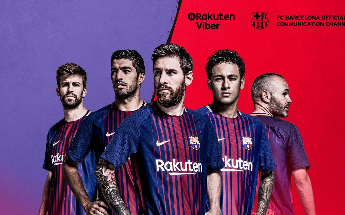 Le FC Barcelone lance son compte officiel et public sur Viber