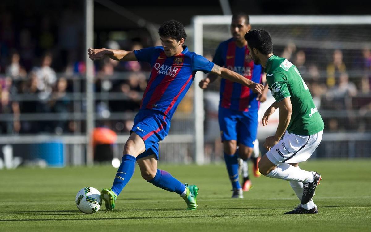 Barça B- Cartagena: Clasificados para la última eliminatoria (0-1)