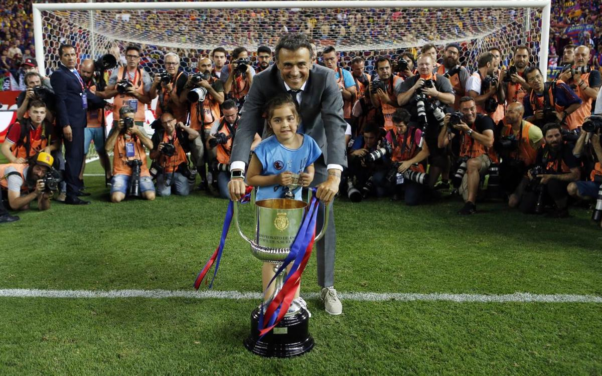 Luis Enrique, nine titles in three seasons with FC Barcelona