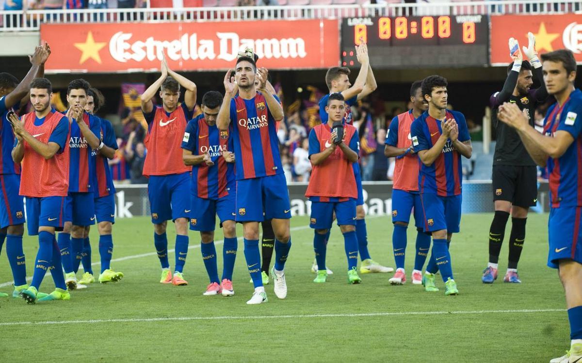 Los socios pueden conseguir a partir del viernes, de manera exclusiva y gratuita, las entradas para el partido de vuelta del Barça B ante el Racing