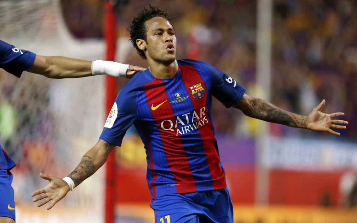 Neymar encadena tres finals de Copa consecutives marcant