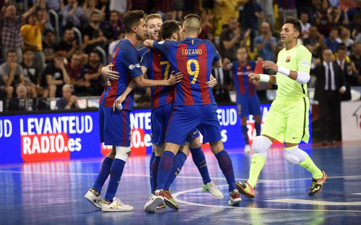 Barça Lassa – ElPozo Múrcia: Triomf inapel·lable per forçar el desempat (5-1)
