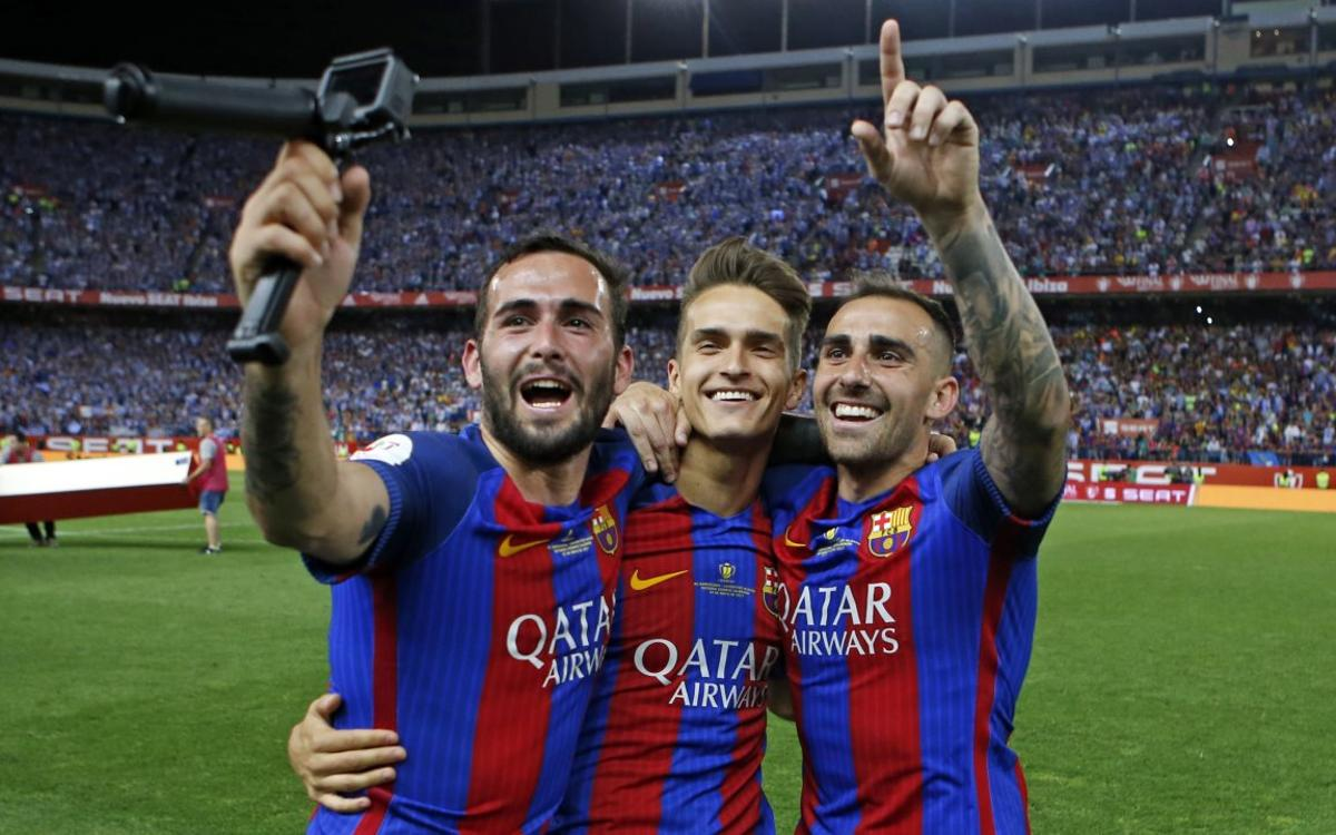 The celebrations from Aleix Vidal's viewpoint