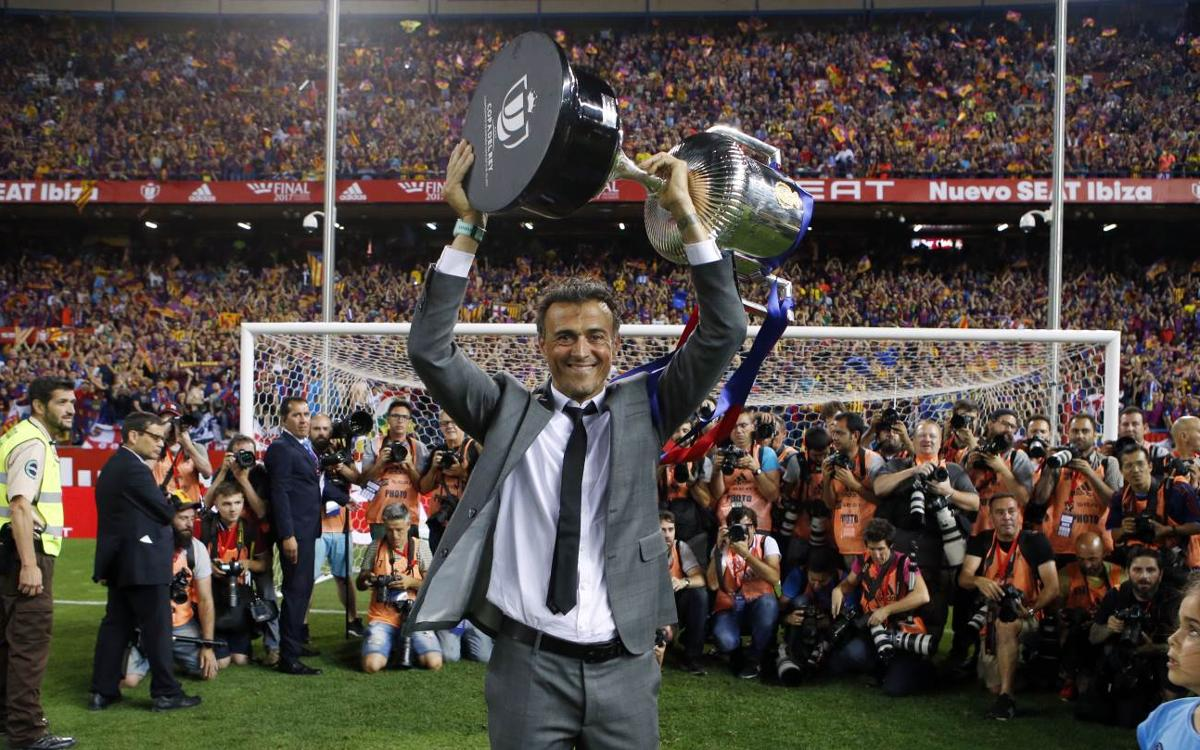 'Luis Enrique, Lucho, Luis', three years of leadership