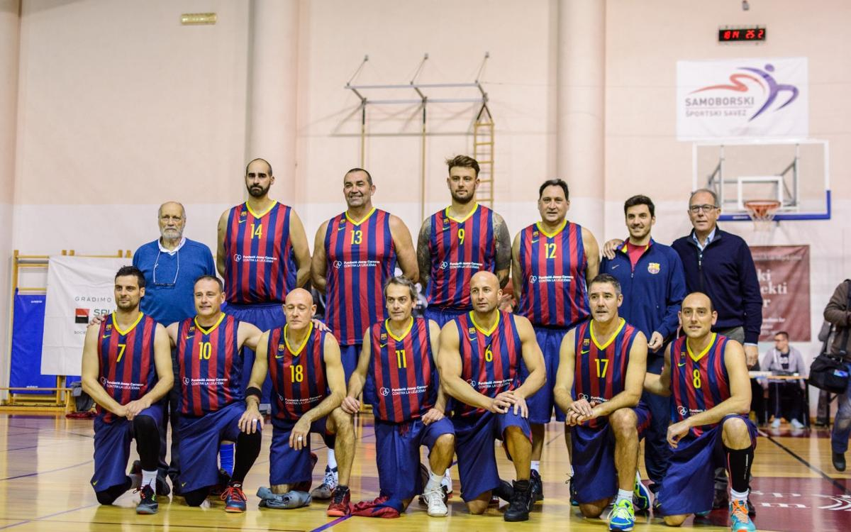 Los Veteranos de baloncesto, contra el Dinamo Sassari