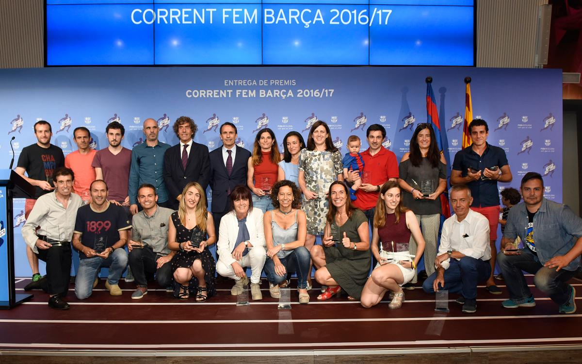 Entrega de premios de la quinta Liga 'Corrent fem Barça'