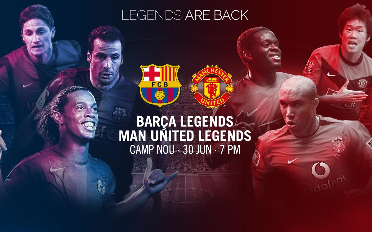 Official poster for the Barça Legends match on 30 June