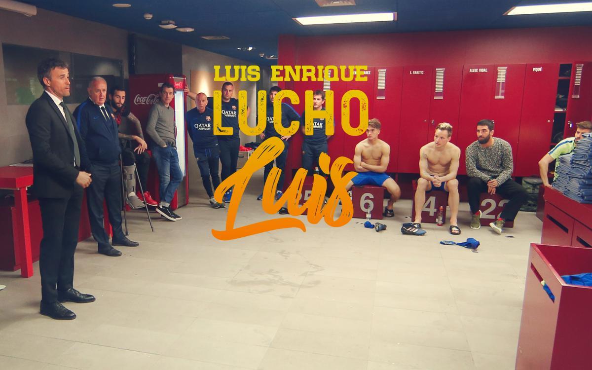 ビデオ:「ルイス・エンリケ、ルーチョ、ルイス」