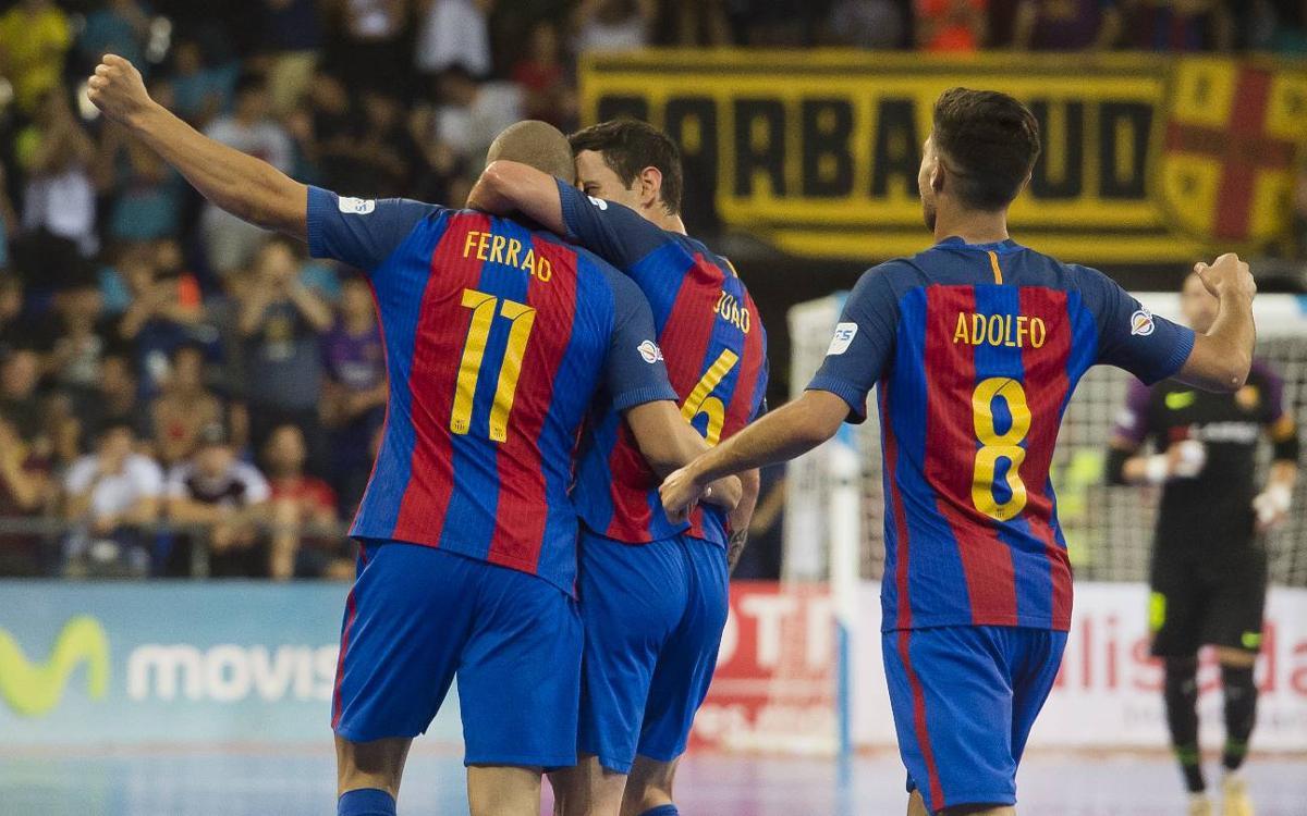 FC Barcelona Lassa - Movistar Inter: Gran goleada para recuperar la ventaja (6-1)