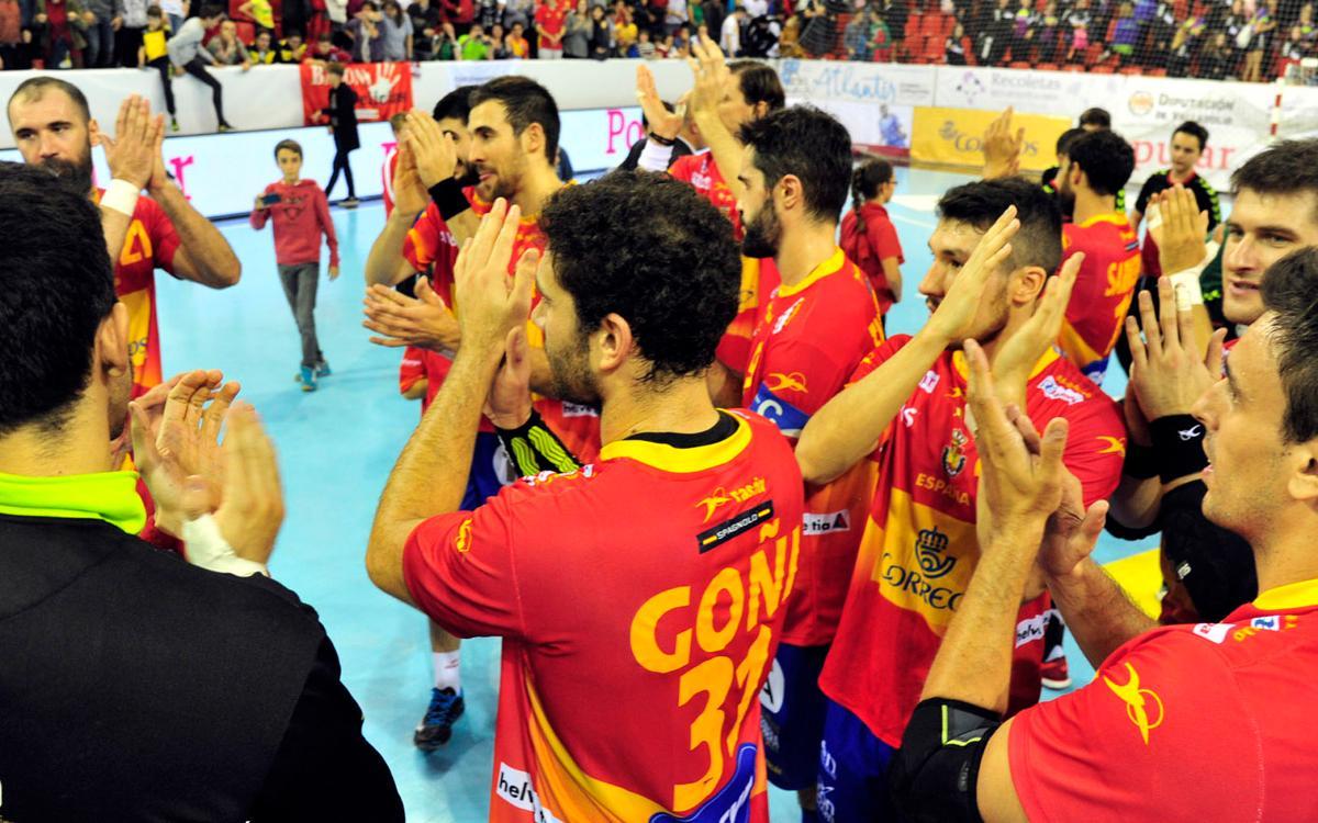 La selecció espanyola tanca la classificació amb golejada