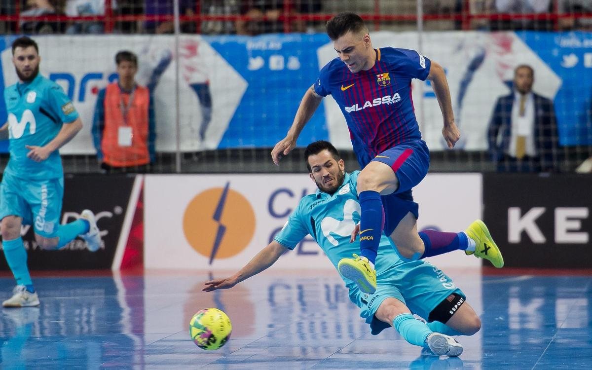 Movistar Inter 4-2 FC Barcelona Lassa: Game one slips away in overtime