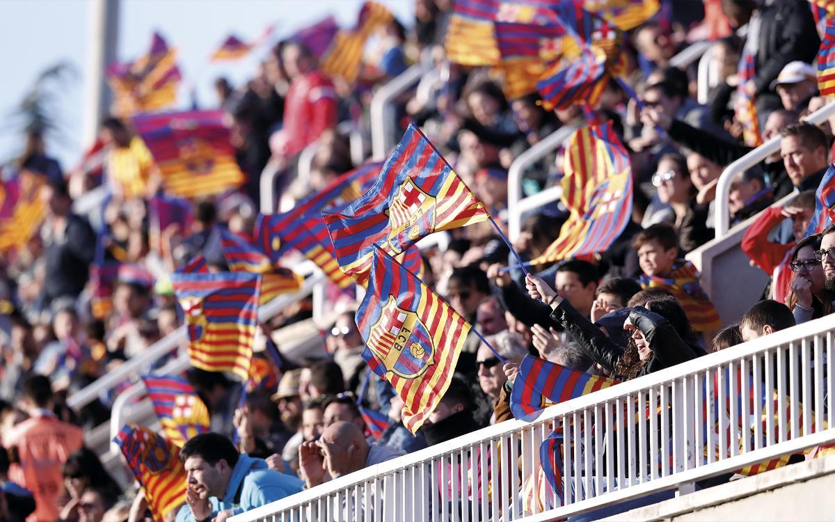 Exhaurides les entrades per a socis i acompanyants per al partit de tornada del Barça B contra el Racing