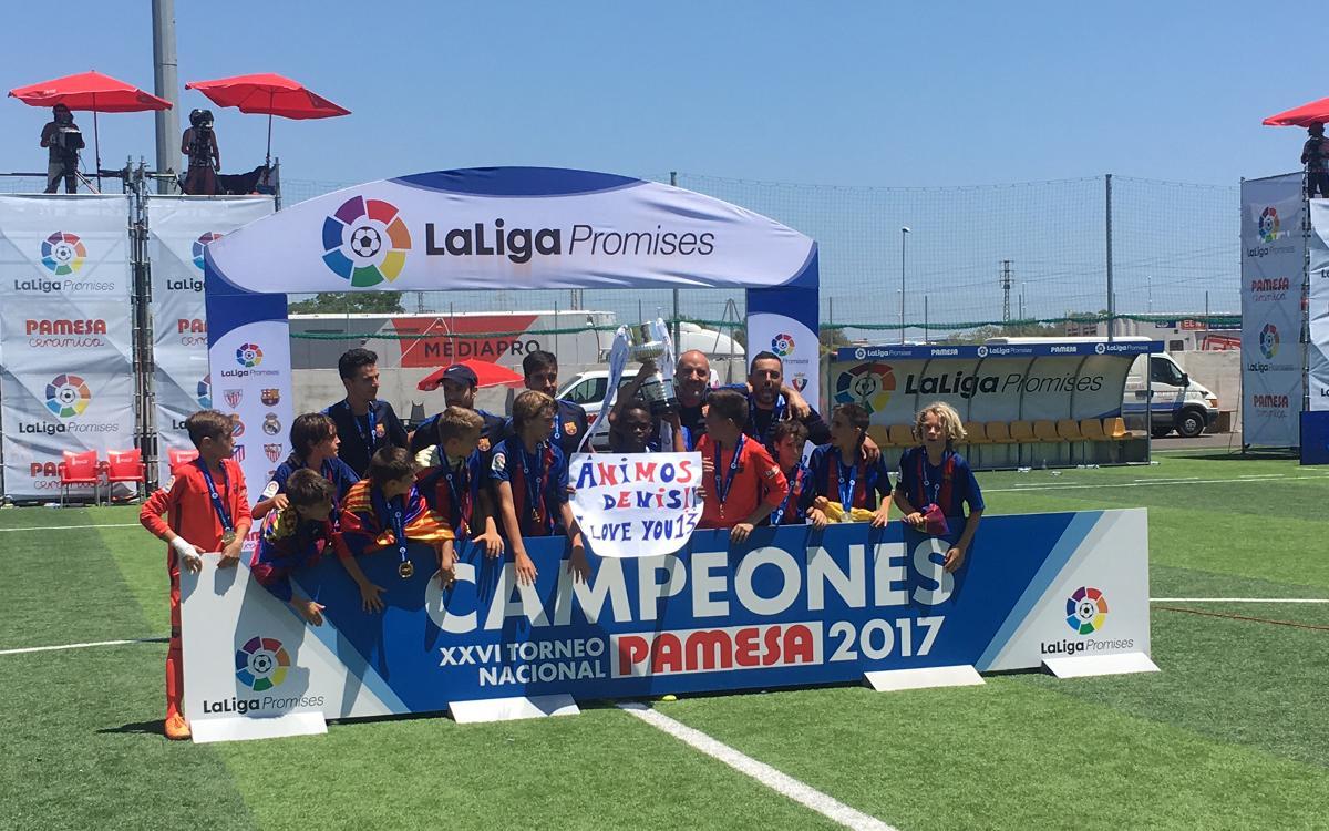 Barça U12s win LaLiga Promises title