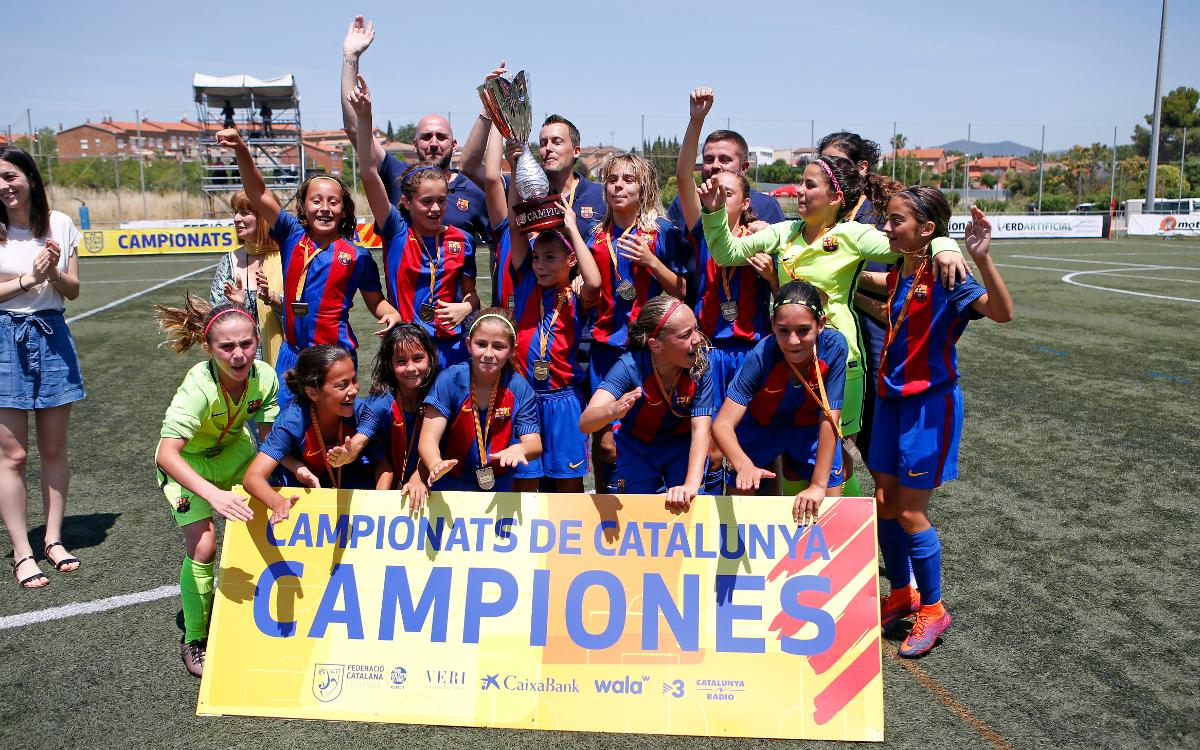 ¡El Infantil-Alevín y el Alevín-Benjamín, campeones de Catalunya!