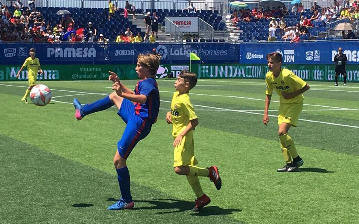 Amazing long-range goal from U-12 player Gerard Hernández in the LaLiga Promises final