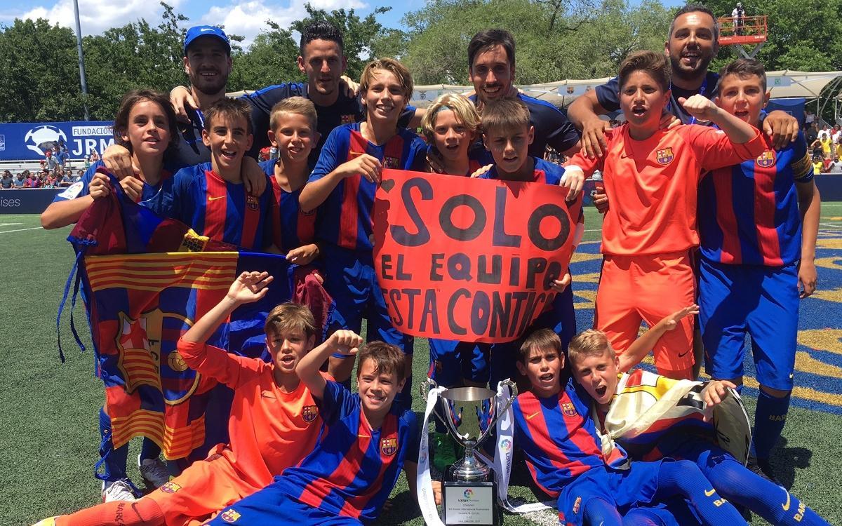 Champions of the III Torneo Internacional LaLiga Promises