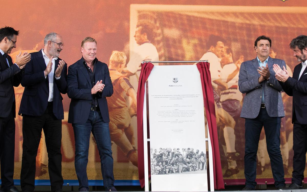 Wembley 1992 heroes unveil commemorative plaque at Camp Nou