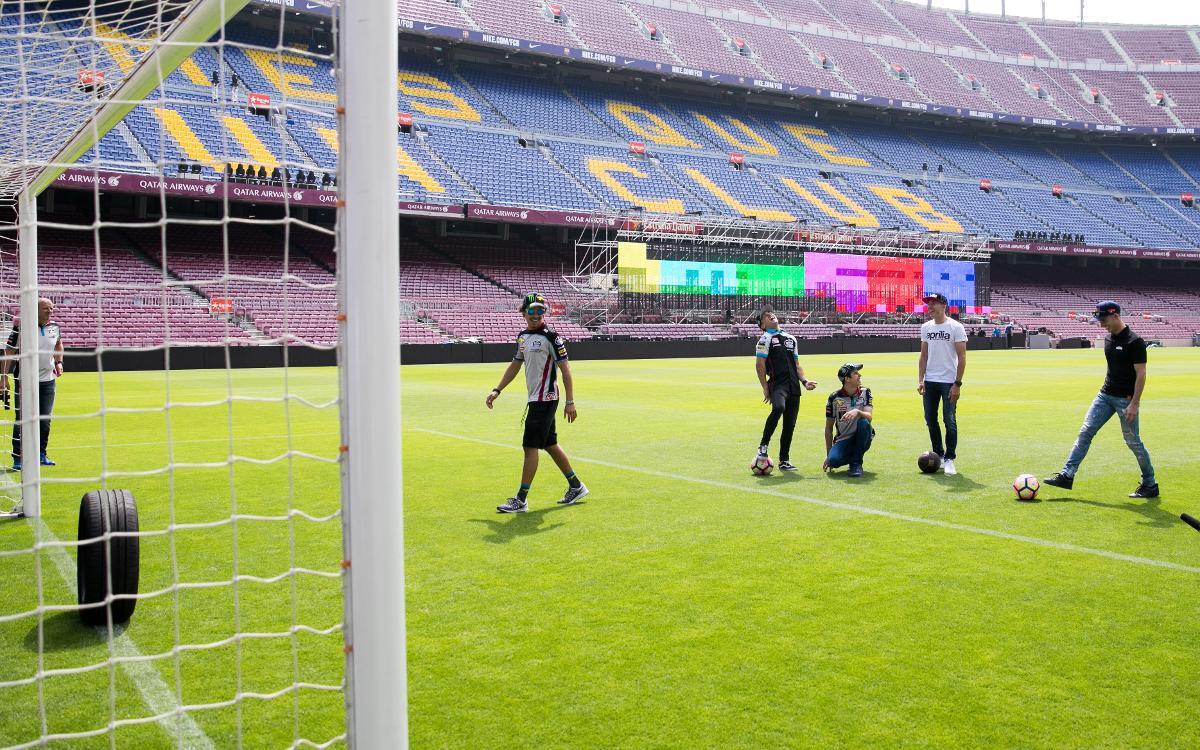 El repte Lassa Tyres del pneumàtic al Camp Nou