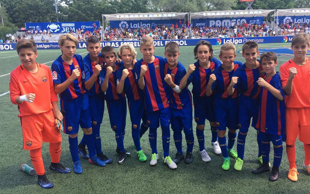 Barça U12A beat Valencia and reach the LaLiga Promises Internacional final
