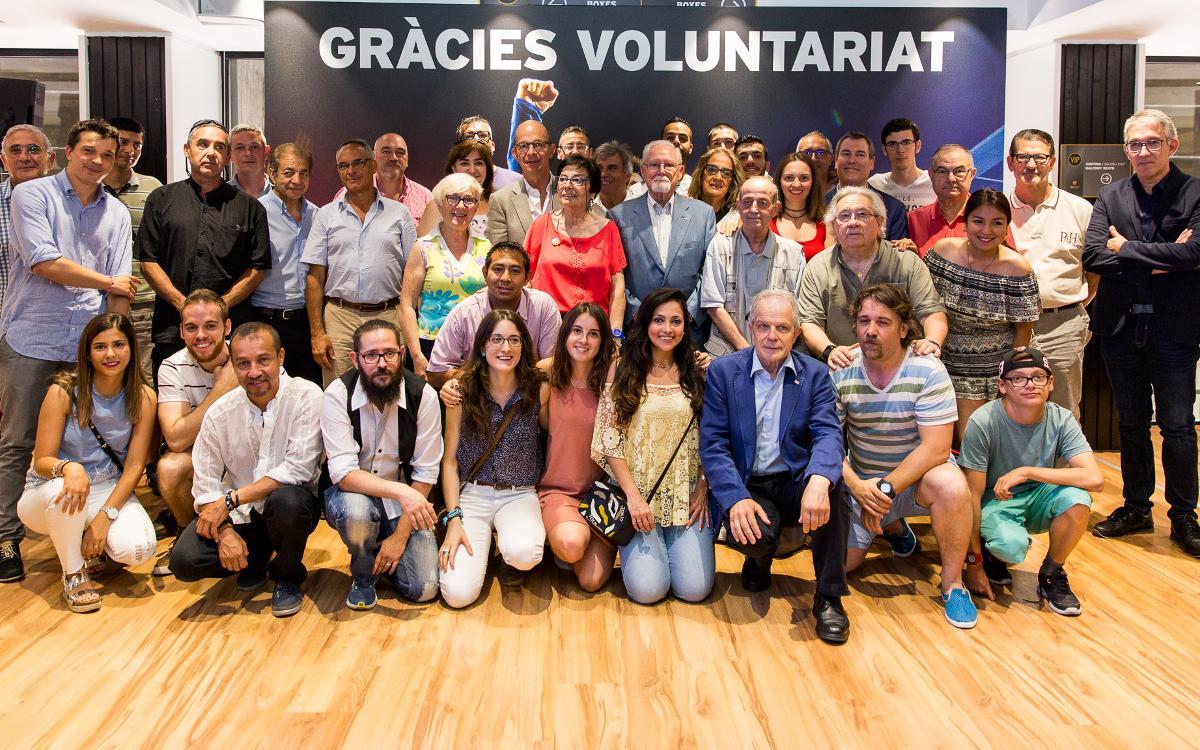 Acte d'agraïment als voluntaris de la Creu Roja que participen en el projecte 'T'acompanyem'
