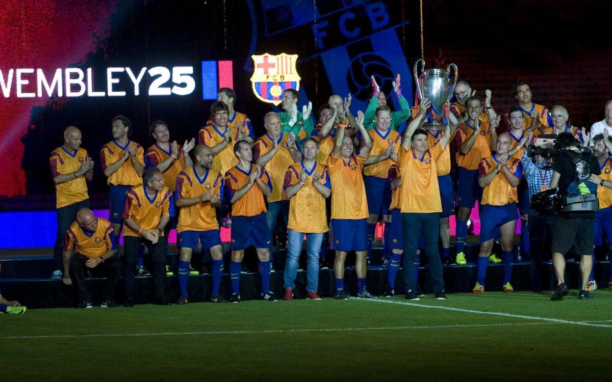 Agradecimiento por la temporada dedicada a los 25 años de Wembley