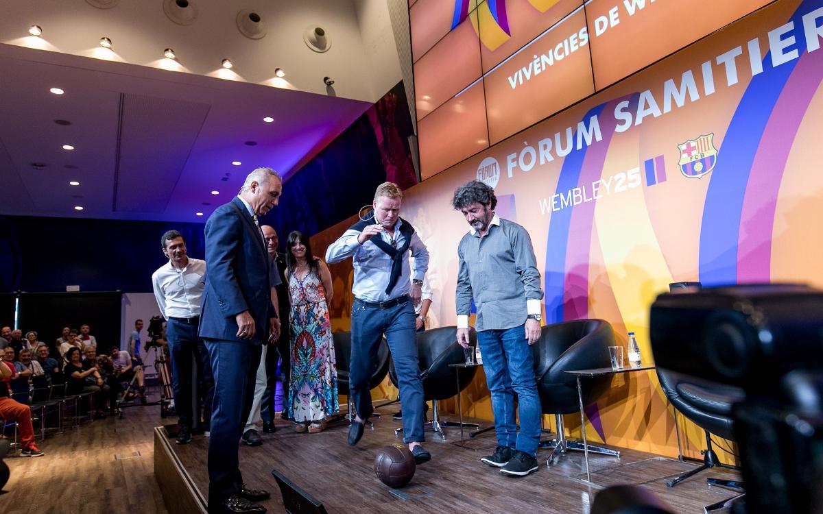 Las vivencias de los protagonistas cierran el Fórum Samitier Wembley25