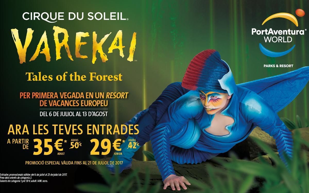 L'espectacle 'Varekai', del Cirque du Soleil, a PortAventura World