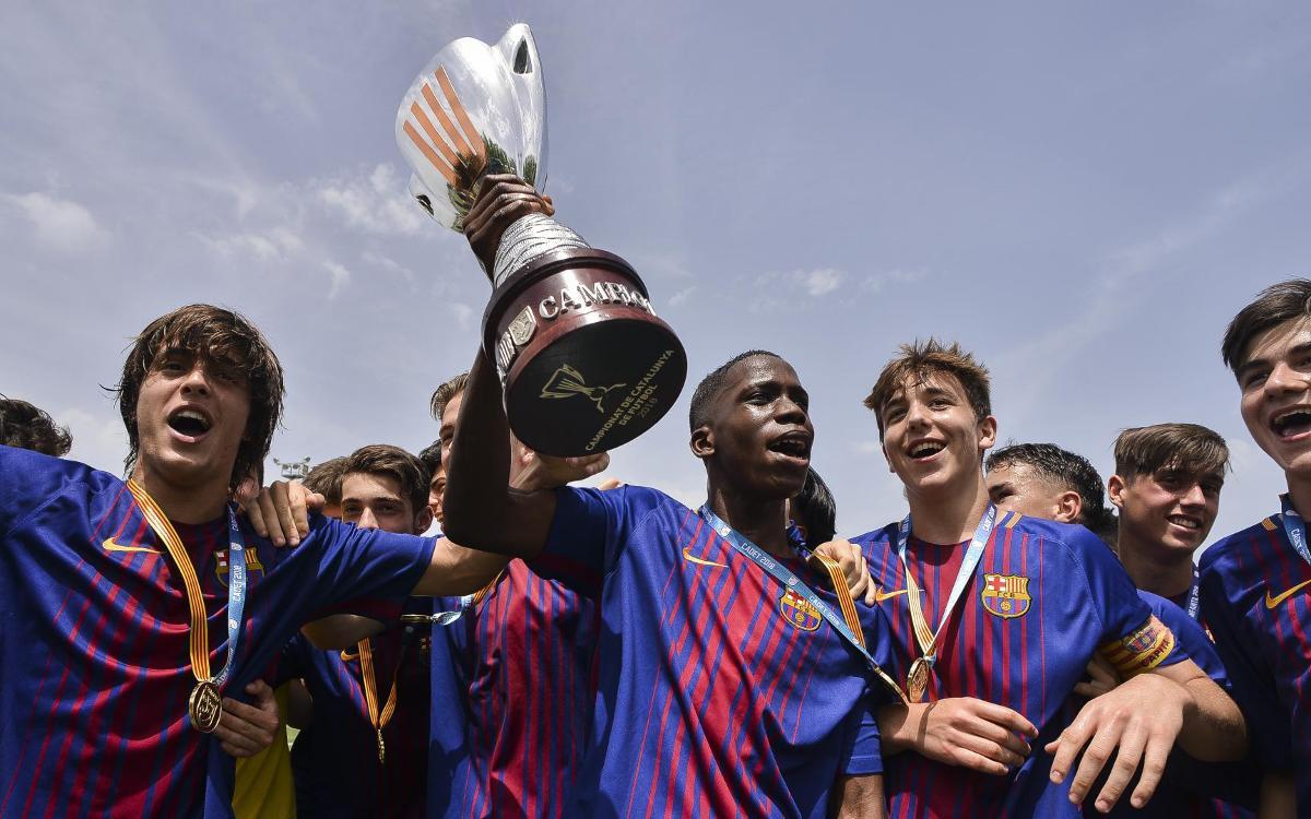 Tres Campeonatos de Catalunya de color azulgrana