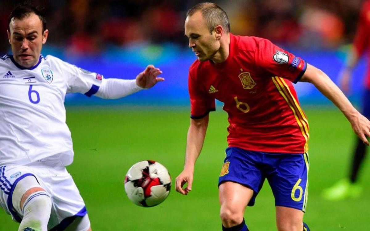 Four Barça players feature in Spain win