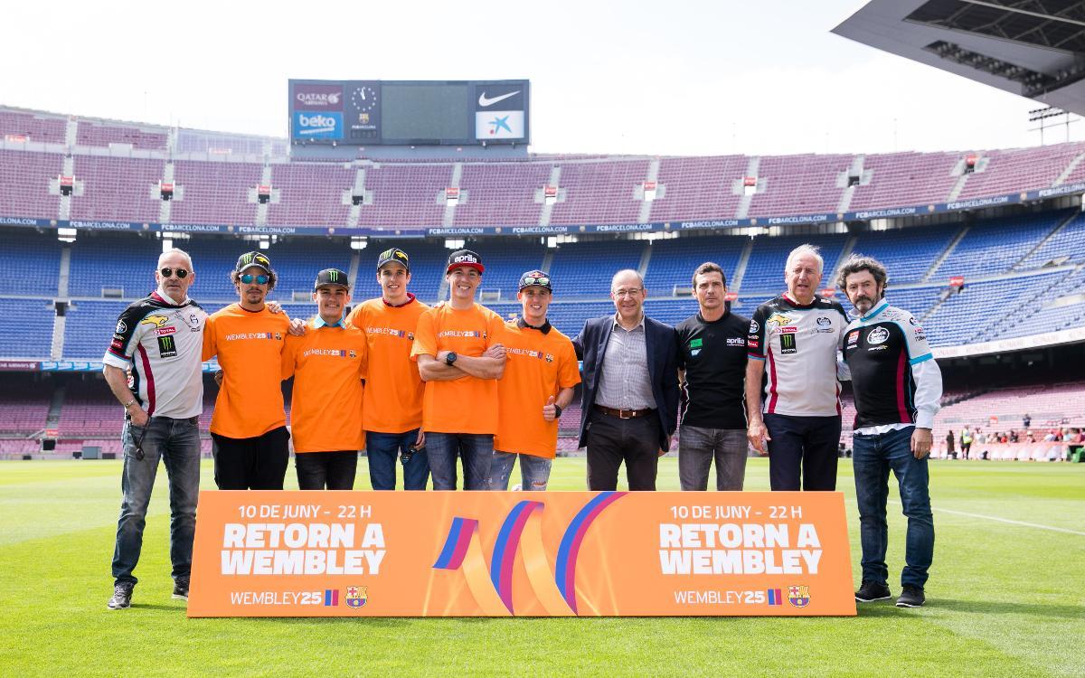Pilotos de MotoGP se suman a la conmemoración de Wembley25 con protagonistas de aquella Copa de Europa