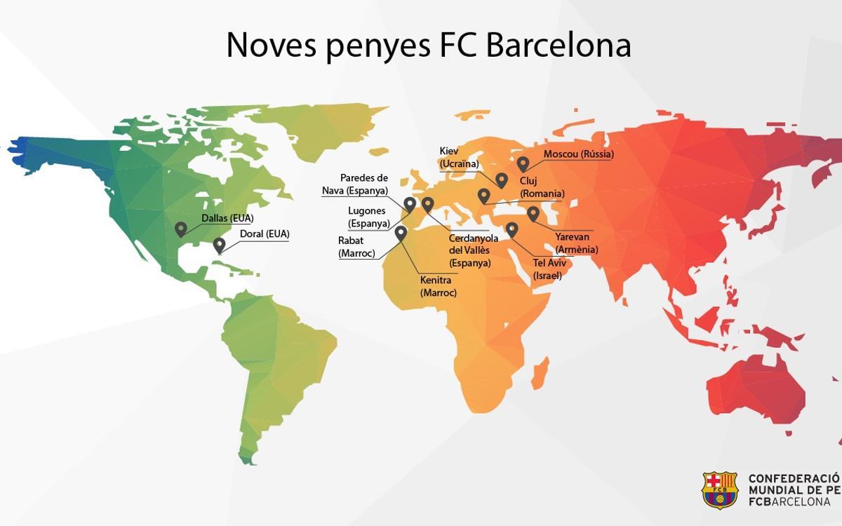 Les penyes del FC Barcelona reforcen la seva presència internacional