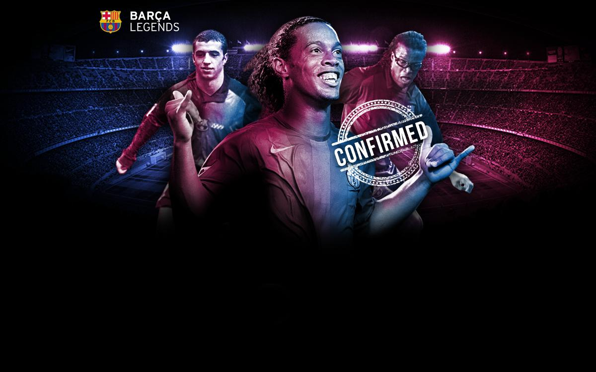 Ronaldinho will be back in a Barça shirt at Camp Nou