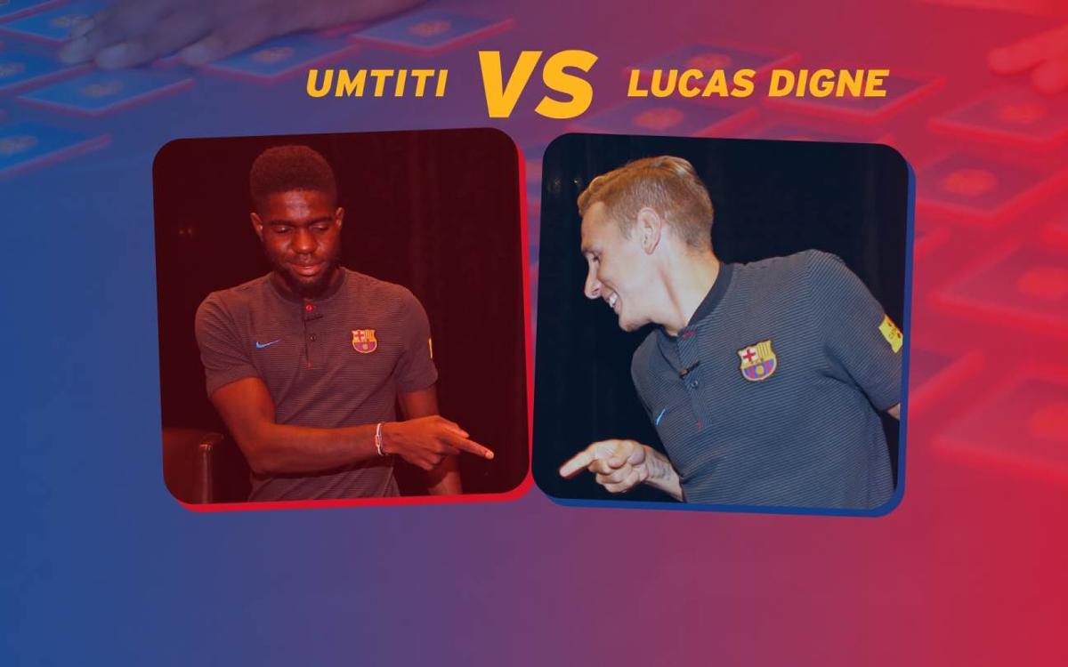 Vidéo - Le jeu du memory : Umtiti VS Digne