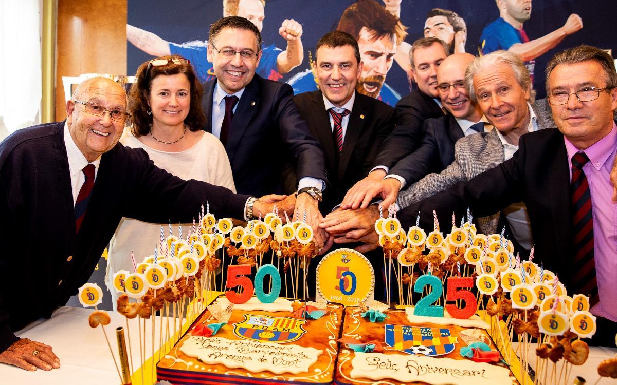Josep Maria Bartomeu presideix el 50è aniversari de la Penya d'Arenys de Munt