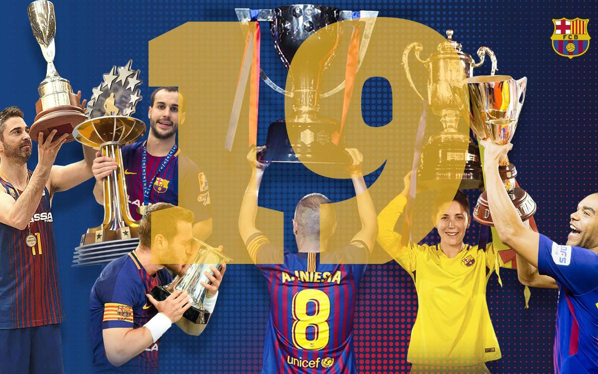FC Barcelona ended the season with 19 titles
